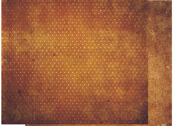 Gingerbread Double Dots 12X12 2-Sided Vintage Cardstock Paper BoBunny