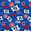 Thumbnail: Chicago Cubs Cotton Fabric White Flag W Mask