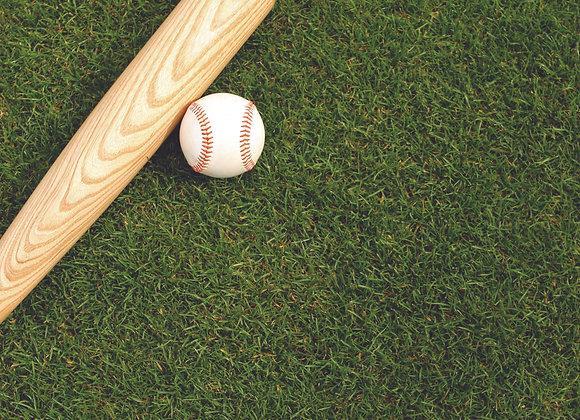 Baseball 1 12x12 Paper