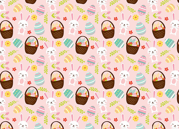 Baskets of Fun 12x12 Scrapbook Paper, Easter Wishes, Echo Park