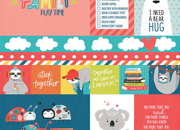 Stick Together 12x12 2-Sided Patterned Paper,  We Can Just Stay Home