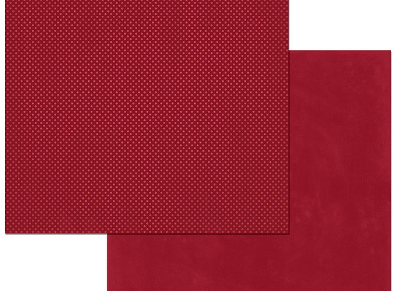 Cranberry Double Dots 12X12 2-Sided Cardstock Paper BoBunny