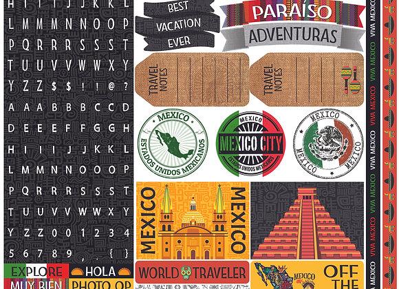 Mexico 12x12 Sticker