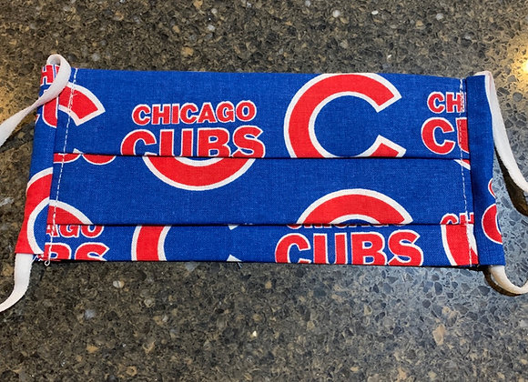 Chicago Cubs Large Logo Cotton Fabric Mask