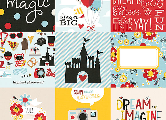 4X4 Elements 12X12 Designer Scrapbook Paper, Say Cheese 4, Simple Stories
