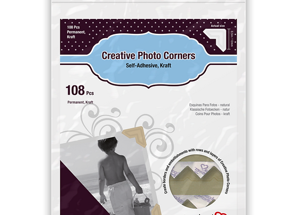 Natural Photo Corners Kraft  Scrapbook Adhesive