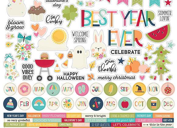 Best Day Ever 12X12 Sticker