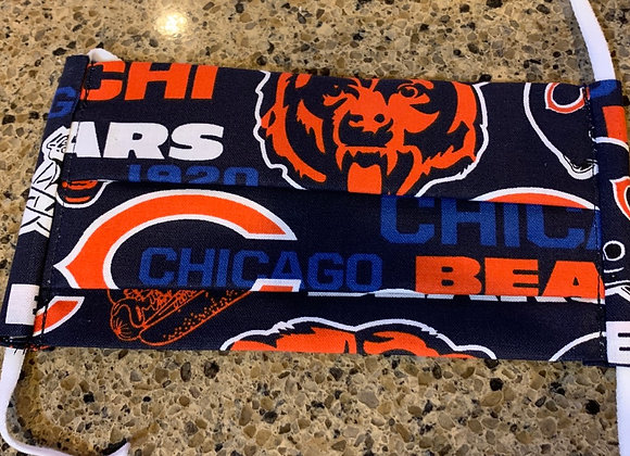 Chicago Bears Cotton Fabric Hometown Mask Big Bear