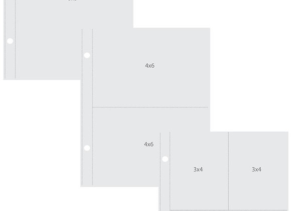 6X8 Multi Pack Pocket Pages