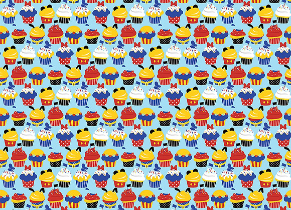 Cupcakes 12x12 - 2 Sided Scrapbook Paper Another Day at the Park