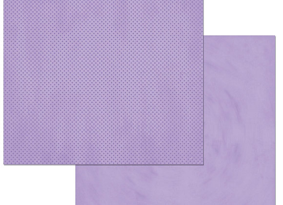 Lavender Double Dots 12X12 2-Sided Cardstock Paper BoBunny
