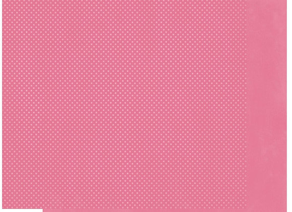 Blush Double Dots 12X12 2-Sided Cardstock Paper BoBunny