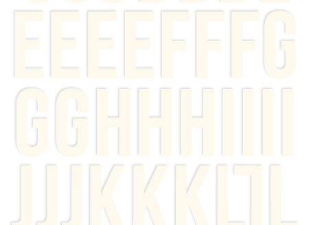 Warm White Foam Alphabet Stickers - Simple Stories