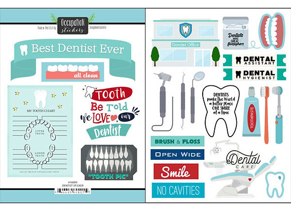 Dentist Sticker Custom