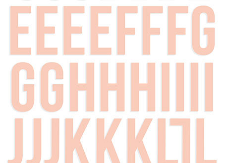 Blush Foam Foam Alphabet Stickers - Simple Stories