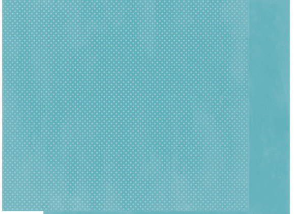 Ocean Double Dots 12X12 2-Sided Cardstock Paper BoBunny