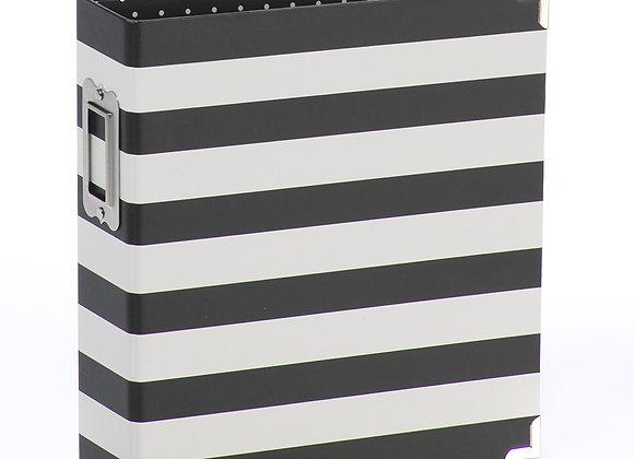 Black Stripe Designer 6X8 SN@P Binder