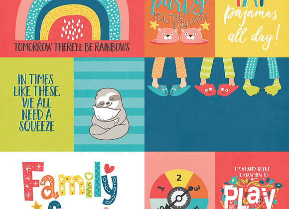Family Fun  12x12 2-Sided Patterned Paper,  We Can Just Stay Home
