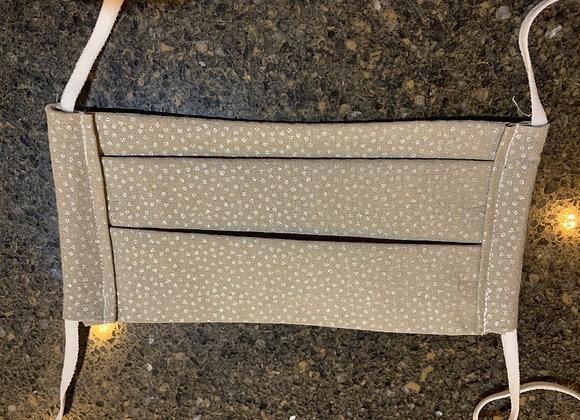 Gray Metallic Dot Calico Cotton Fabric Mask