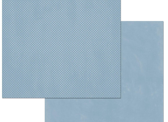 Country Blue Double Dots 12X12 2-Sided Cardstock Paper BoBunny