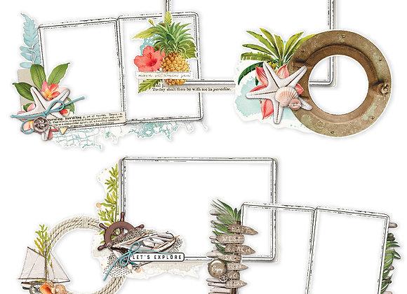 Layered Frames,  Simple Vintage Coastal, NEW Simple Stories