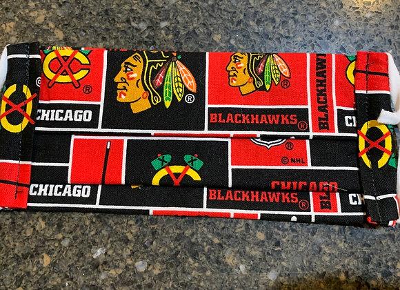 Chicago Blackhawks Block Logo Cotton Mask