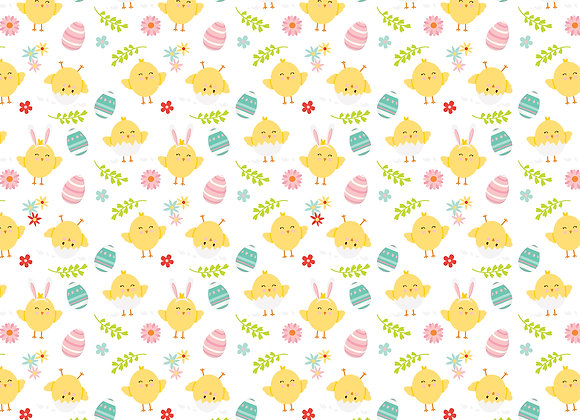 Cute Chicks 12x12 Scrapbook Paper, Easter Wishes, Echo Park