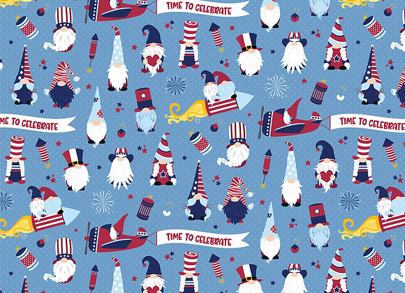 Land That I Love 12x12 2-Sided Patterned Paper, Gnome for July 4th
