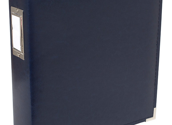 Navy Faux Leather 8.5x11 3 Ring Binder Scrapbook Album