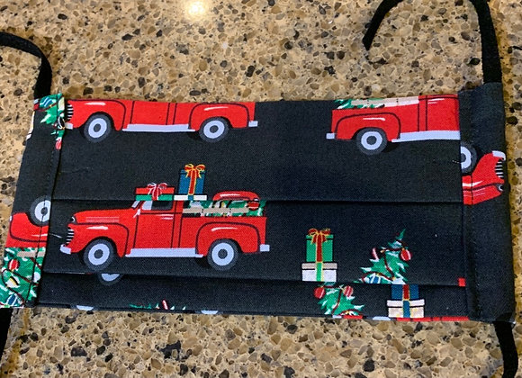 Red Truck Christmas Holiday Treats Cotton Mask
