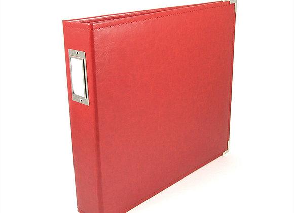 Real Red  12x12 3 Ring Binder Scrapbook Album