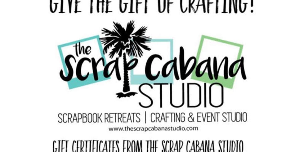 Gift Certificates with The Scrap Cabana Studio