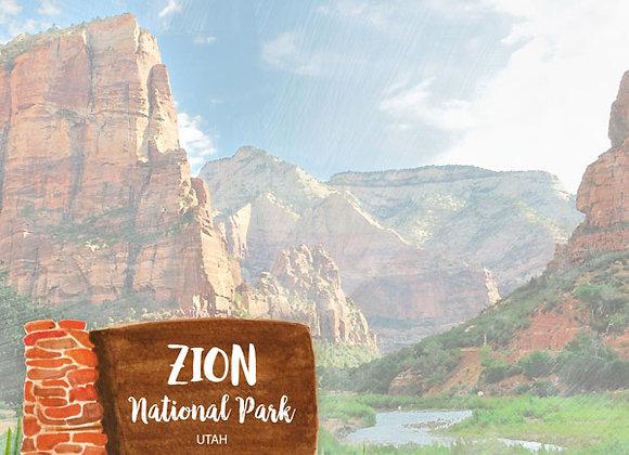 Zion National Park 12x12