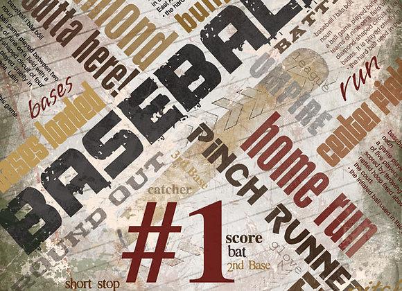Baseball Extreme 12x12 Paper