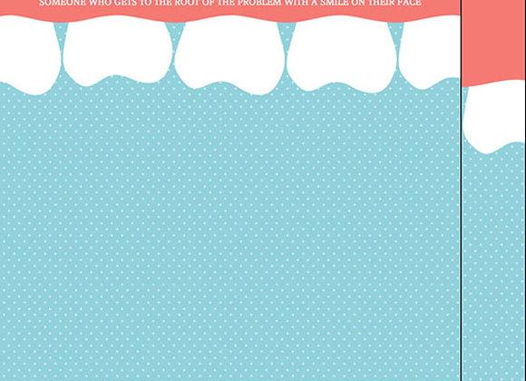 Dentist Teeth Border 12x12