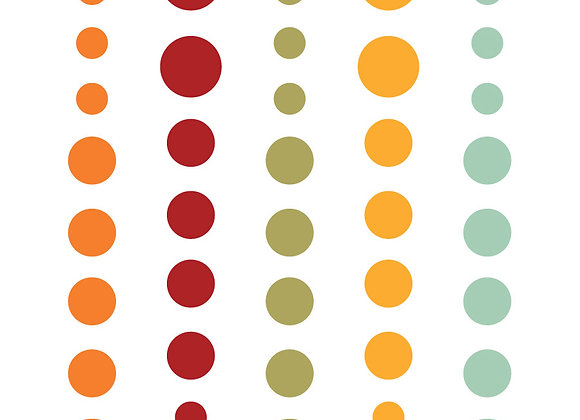 Autumn Enamel Dots