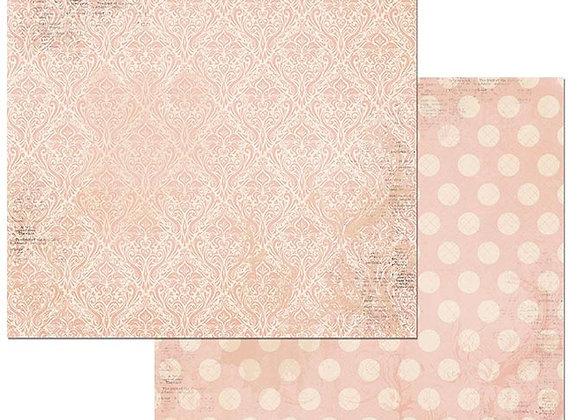 Dusty Rose Double Dots 12X12 2-Sided Cardstock Paper BoBunny BoBunny