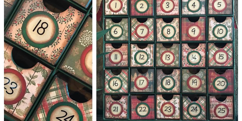 Advent Calendar Christmas Countdown Box with Mini Drawers - Class