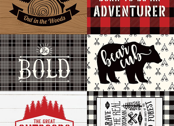 4X6 Journaling Cards, 12x12 Patterned Paper, Little Lumberjack