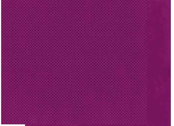 Boysenberry Double Dots 12X12 2-Sided Cardstock Paper BoBunny