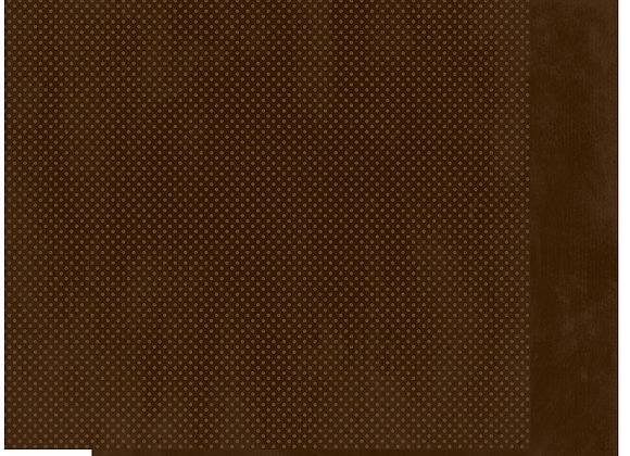 Coffee Double Dots 12X12 2-Sided Cardstock Paper BoBunny