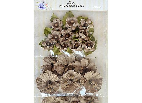 Linen Garden Seeds Flower Embellishment