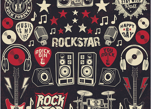 Rockstar 12x12 Sticker