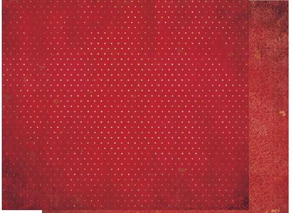 WildBerry Double Dots 12X12 2-Sided Vintage Cardstock Paper BoBunny