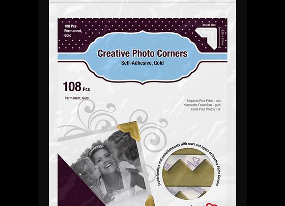 Gold Photo Corners Scrapbook Adhesive