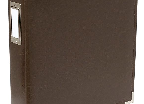 Dk Chocolate Faux Leather 8.5x11 3 Ring Binder Scrapbook Album