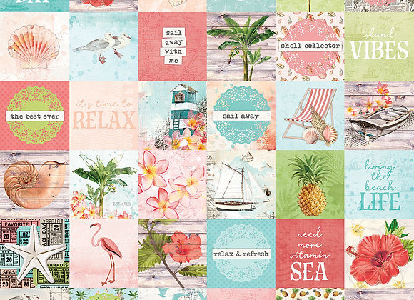 2x2 Elements 12x12 Designer Cardstock Paper,  SV Coastal, NEW Simple Stories