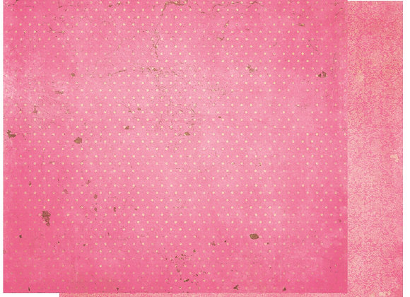 Passion Fruit Double Dots 12X12 2-Sided Vintage Cardstock Paper BoBunny
