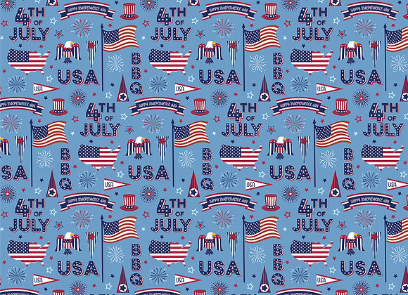 July 4th 12x12 2-Sided Patterned Paper, Gnome for July 4th
