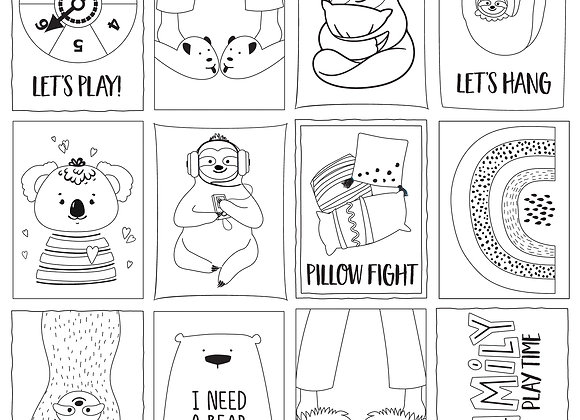 Color Me 12x12 2-Sided Patterned Paper,  We Can Just Stay Home